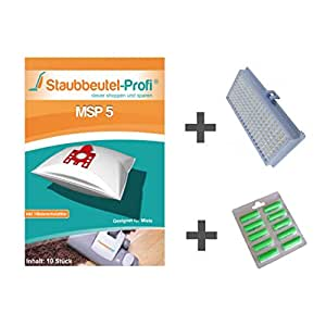 10bolsas para aspiradora + Hepa de filtro + ambientadores. Adecuado para Miele S 381i de polvo bolsa de profesional®
