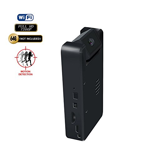 - Mini Spy Camera WiFi Black Box Design HD Video Recording Camera with Max 128GB Micro SD Support 3.5 Hours Battery Life Mini DVR and Manual Adjustable Wide Angle Camera Lens Hidden Camera WiFi for Home