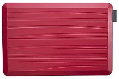 NUVA Anti Fatigue Standing Floor Mat, 100% PU Comfort Ergonomic Material Unlike PVC leather mats! 4 Non-slip PU Elastomer Strips on Bottom, 5 Safety Test by SGS