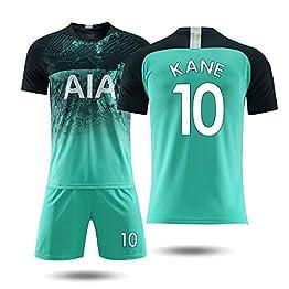 KLEDDP T-Shirt à Manches Courtes Shorts Maillot Tottenham Second Away 18-19 Maillot d'entraînement de Football Kane No. 10 T-Shirt Basketball (Color : A, Size : L)