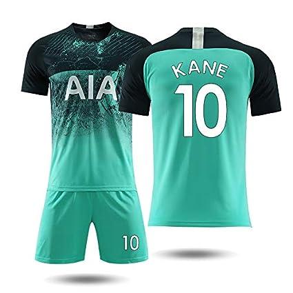 official photos e7d6c 85cea GLJJQMY Short Sleeve T-Shirt Shorts Tottenham Second Away Jersey 18-19 Kane  No. 10 Football Training Jersey Basketball t-shirt (color : A, Size : L)