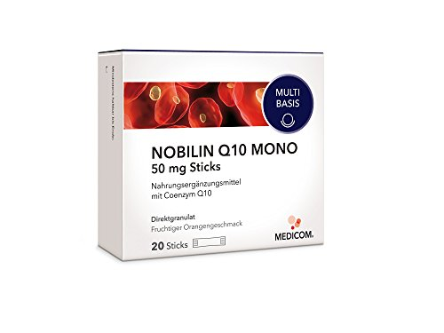 NOBILIN Q10 MONO 50 mg - 20 Coenzym Q10 Sticks, Anti Aging Zellschutz - Antioxidantien Komplex gegen freie Radikale