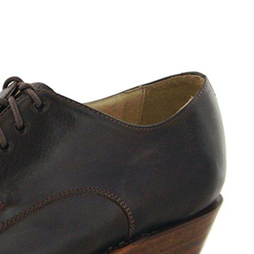 Chaussures deux Bikerschnürschuh 064 5717 Coloris Brass Boots Sendra Marron Ht7qTT