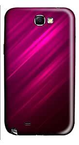 Samsung Note 2 Case Pink 45 Degrees Background 3D Custom Samsung Note 2 Case Cover
