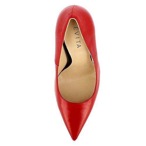 Evita Shoes Desideria Damen Pumps Glattleder Rot