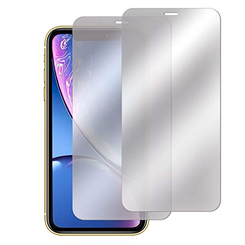 Compatible with iPhone XR Screen Protector(2-Pack), Insten [Mirror] Tempered Glass Protector Film Cover w/Installation Tray 9H Hardness/Case Firendly/Accurate/Bubble-Free for iPhone XR 6.1