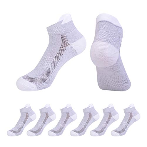 Cut Low Walking Socks Cushioned - Athletic Socks Women Low Cut Performance Cushioned with Tab for Running 6 Pairs