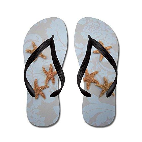 CafePress Sandy Sugar Flip Flops Blue - Flip Flops, Funny Thong Sandals, Beach Sandals Black