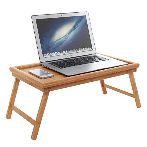 Luxurious Breakfast In Bed Bamboo Lap Tray / Laptop Desk / Kids Floor Table  W/ Folding Legs   MyGift