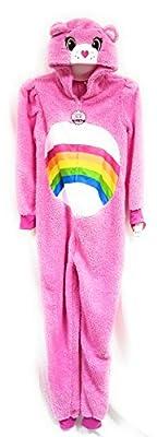 Care Bear Cheer Pink Onesie Women's Union Suit Pajama Costume