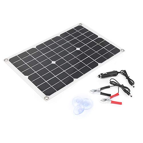 Beautylady 20W 18V Mnocrystalline Solar Panel Extremely Flexible IP-65 Waterproof Solar Panel for Motorhome Car Boats Roof 12V Battery Charger
