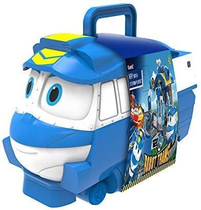 Robot Trains – Locomotora de almacenamiento mini vehículos – Puede contener 10 minivehículos – 29 cm – Juguete materno