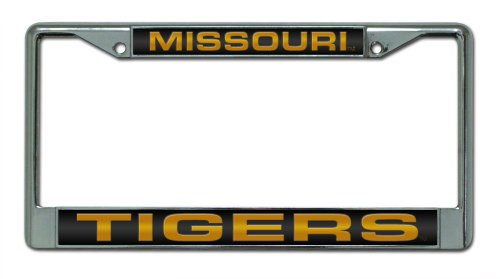 - Rico Industries NCAA Missouri Tigers Laser Cut Inlaid Standard Chrome License Plate Frame