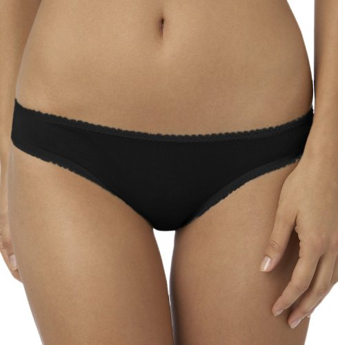 On Gossamer Women's Mesh Low-Rise Bikini Panty,Black,Small
