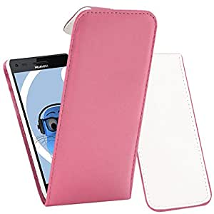 iTALKonline Huawei Ascend P6 Pink PU Leather Executive Multi-Function Vertical Flip Wallet Case Cover Organiser