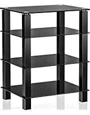 FITUEYES Stereo Stand Media Component Stand Audio Cabinet AV Shelf for/Apple Tv/Xbox One/ps4 AS406002GB