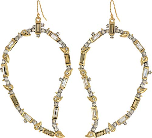 Alexis Bittar Women's Crystal Baguette Paisley Wire Earrings 10k Gold/Rhodium Accents One Size