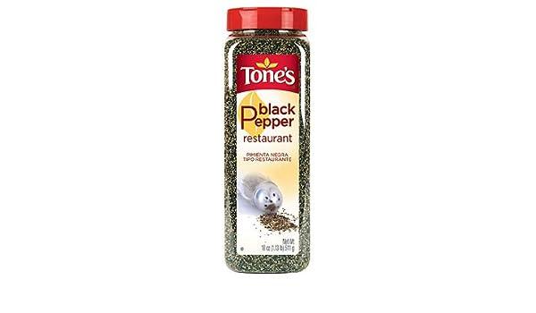 Amazon com : Tone's Black Pepper, Restaurant (18 oz ) : Grocery