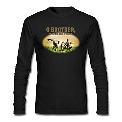 OPEND Men's O Brother, Where Art Thou Long Sleeve T-shirt Black M