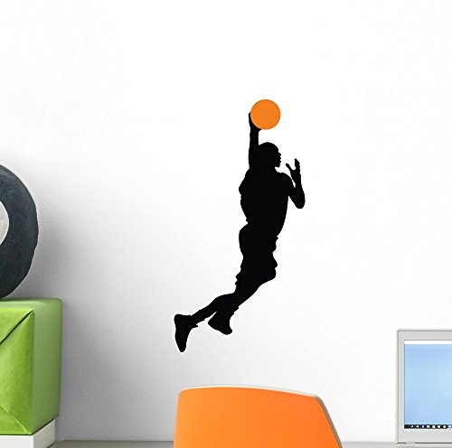 (Wallmonkeys WM270485 Basketball Player Silhouette Wall Decal Peel and Stick Graphic (12 in H x 6 in W))