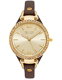 SO & CO New York  Women's 5061.2 SoHo Analog Display Quartz Brown Watch