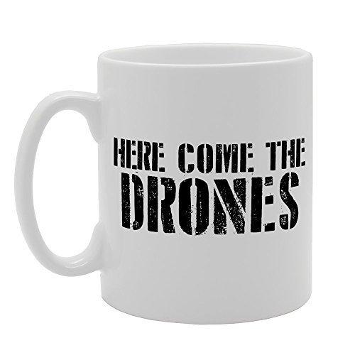 CCS 11oz Here Come The Drones Novelty Gift Ceramic Tea Coffee Mug