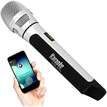 pyle wireless bluetooth streaming karaoke microphone for music playing and singing. Black Bedroom Furniture Sets. Home Design Ideas