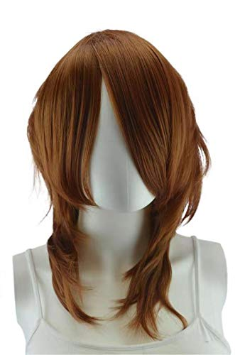Epic Cosplay Helios Light Brown Long Bang Layered Wig 16 Inches -