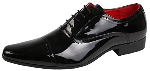 MENS SMART OXFORD LACE UPS / SLIP ON LOAFERS MULES FORMAL OFFICE WORK WEDDING SHOES SIZE UK 6- 11 Black Patent Lace Up Oxfords ZuFTfvfst