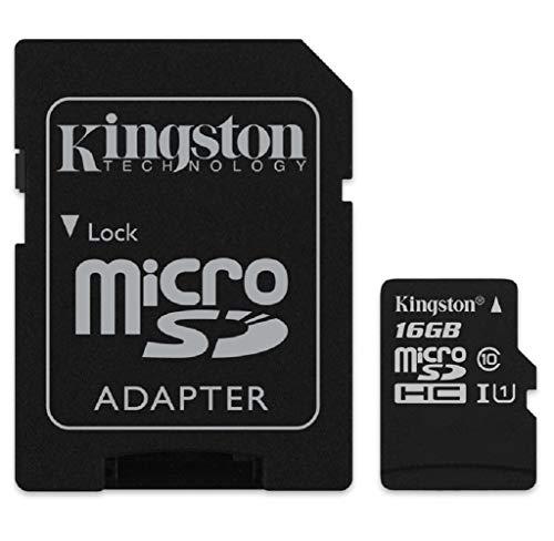 Kingston Canvas Select 16  GB microSDHC Class 10 UHS I 80MB/s Flash Memory Card