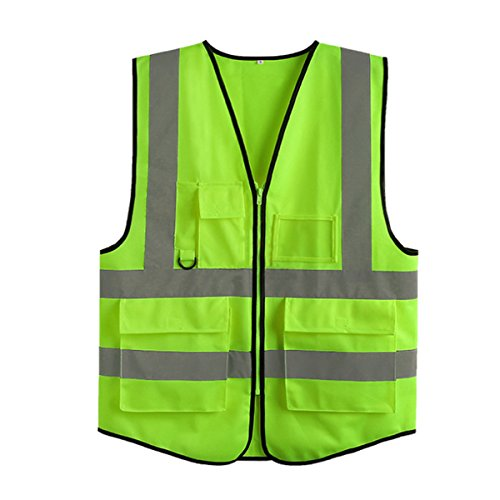 Neon Green Safety Vest - 5