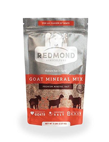 Redmond - Goat Mineral Supplement Mix, Unrefined Salt, 5 lbs