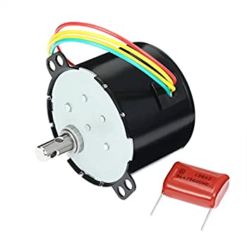 uxcell Synchronous Motor AC 110V 50/60Hz 6W 40/48RPM Output Speed Reduction Geared Box