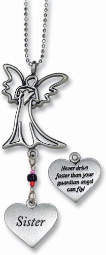 Cathedral Art KT236 Sister/Angel Ball Chain Car Charm