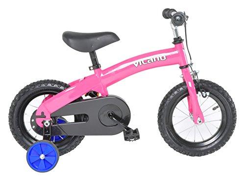 Vilano 2 in 1 Balance Bike Kids Pedal Bicycle, Pink