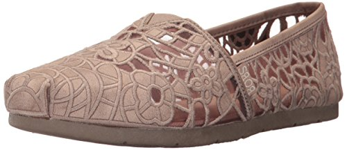 Skechers Bobs Från Womens Luxe Fashion Slip-on Flat Taupe