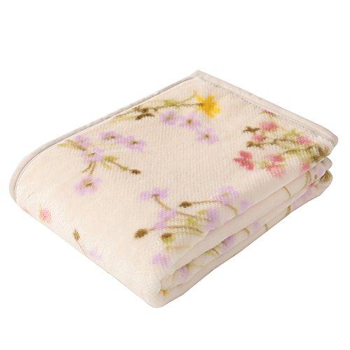 도쿄 니시카와 뉴 메이어 모포 싱글 경량 매끄러움 아크릴 따스한 마이 모델 내츄럴 플라워무늬 일본제 핑크 FQ07050012P