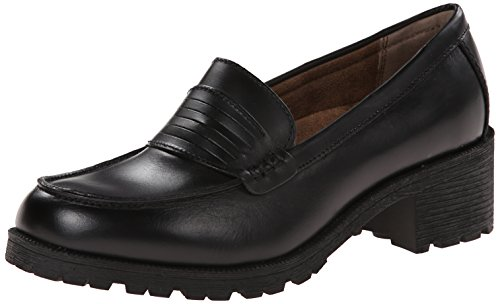 Eastland Women's Newbury Penny Loafer, Black, 8.5 M US