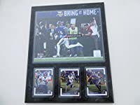 "Stephon Diggs Minnesota Vikings Minneapolis Miracle Catch Bring It Home 1-14-2018 Photo Plus 3 Cards Mounted On A ""12 X 15 Black Marble Plaque"
