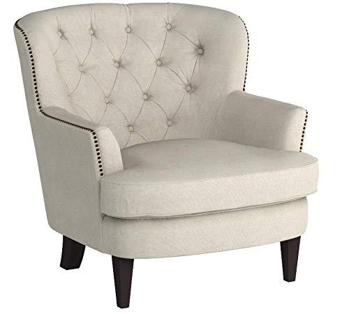 Ravenna Home Semple Button Tufted Nailhead Trim Accent Chair, 33