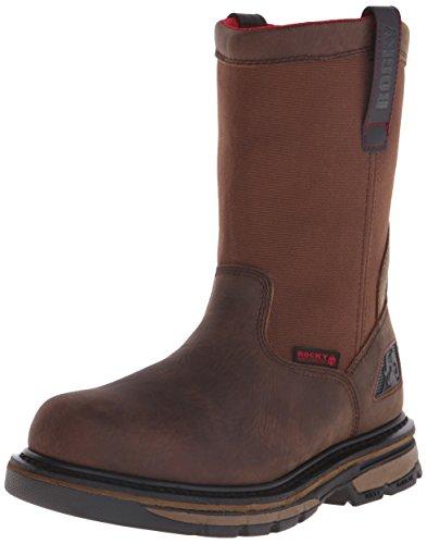 Mens Wellington Rocky (Rocky Men's 10 inch Hauler Work Boot, Brown, 8.5 M US)
