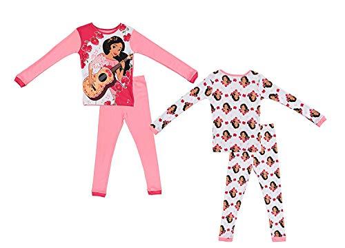 Disney Girls Elena of Avalar Pajamas - 2-Pack of 2-Piece Long Sleeve Pajama Set (Pink/White, -