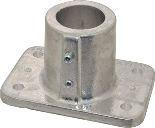 Hollaender - 1-1/2 Inch Pipe, Base Flange, Aluminum Alloy Pipe Rail Fitting (7 Pack)