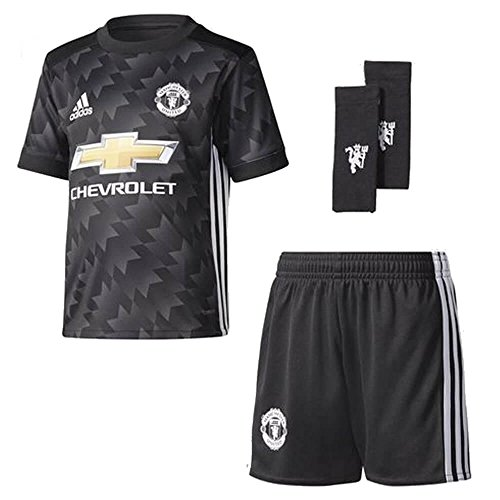 2017-2018 Man Utd Adidas Away Little Boys Mini (Away Little Boys Kit)