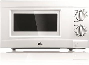 Microondas con grill - Ok OMW 170 G-W Con Grill, 17 Litros, 700W