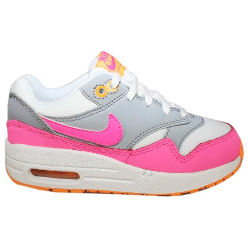 Nike Air Max 1 White Pink Kids Trainers