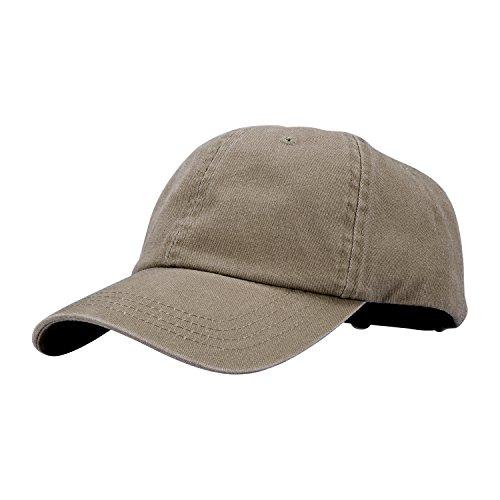 ton Dad Hat Unisex Washed Twill Cotton Baseball Cap Low Profile Polo Style Unconstructed-01khaki ()