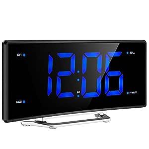 Radio Despertador Digital con Proyector de Mpow, Reloj de Alarma ...