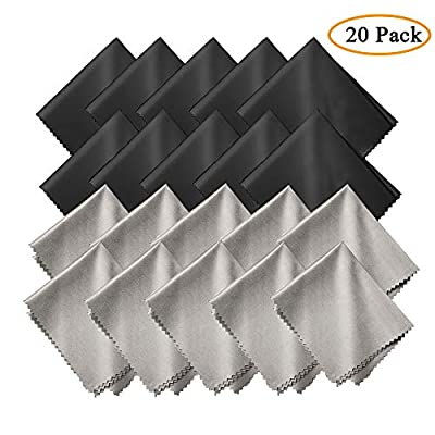 GCOA Microfiber Cleaning Cloths, for Cleaning Cell Phones, Tablets, Camera Lenses,Spectacles, Telescope, LCD Screens and Other Delicate Surface, 20 Pack