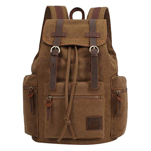 Chenchen ltd Laptop Backpack,KAUKKO Men and Women Travel Students Casual for Hiking Travel Camping Backpack,Outdoor,Outdoor Recreation, Khaki